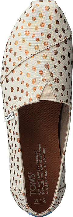 Toms - Alpargata Rose Gold/natural Canvas Dots
