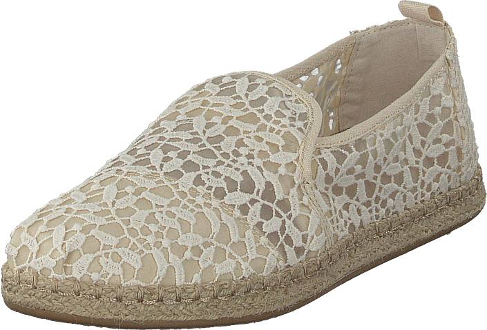 Toms - Deconstructed Alpargata Rope Natural Lace Leaves