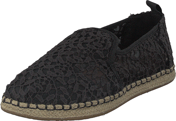 9b491b386c0 Koop Toms Deconstructed Alpargata Rope Black Lace Leaves zwarte ...
