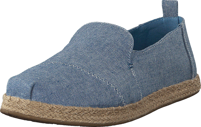 Toms - Deconstructed Alpargata Rope Blue Slub Chambray