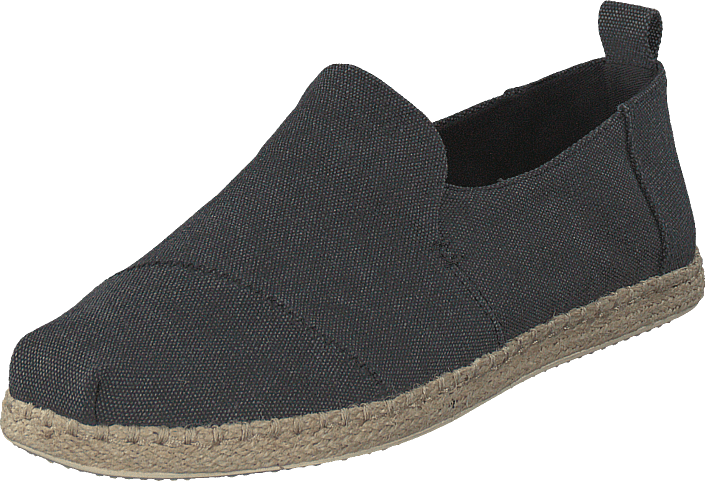 Deconstructed Alpargata Rope Black Washed Canvas/rope