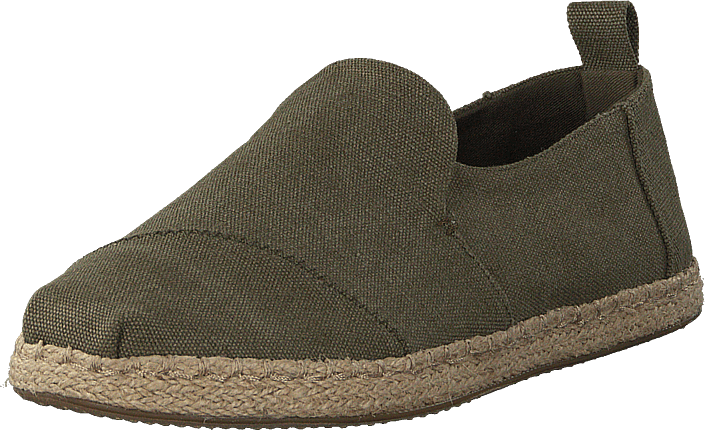 Osta Toms Deconstructed Alpargata Rope Olive Washed Canvas rope ... 9a8717f152