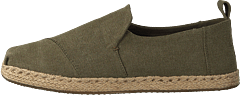 Deconstructed Alpargata Rope Olive Washed Canvas/rope