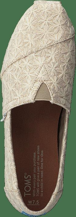 Kjøp Toms Alpargata Natural Daisy Metallic Sko Online