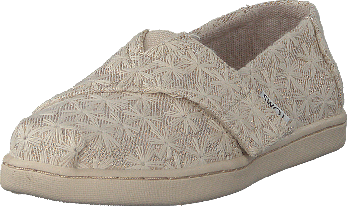 Toms - Alpargata Tiny Natural Daisy Metallic