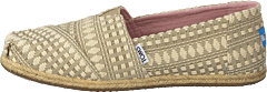 Alpargata Oxford Tan Diamond Tribal Rope