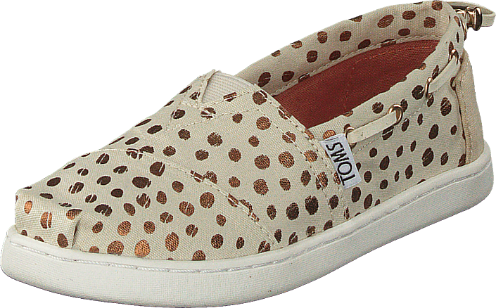 Toms - Bimini Youth Rose Gold Dots