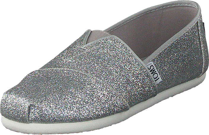 Alpargata Youth Silver Iridescent Glimmer
