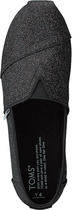 Toms - Alpargata Youth Black Iridescent Glimmer