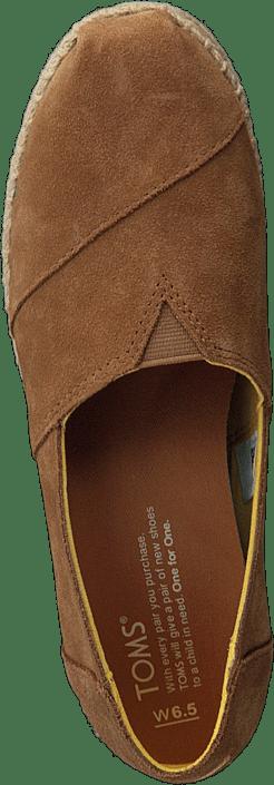 Kjøp Toms Platform Alpargata Toffee Suede sko Online