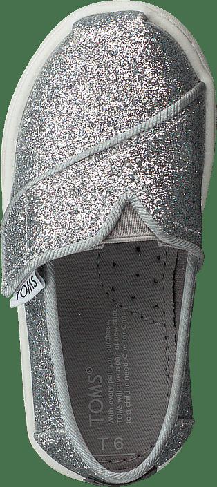 Toms - Alpargata Tiny Silver Iridescent Glimmer