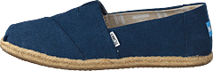Alpargata Navy Washed Canvas Rope Sole