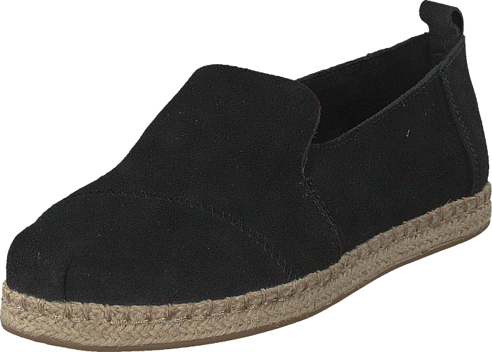 Toms - Deconstructed Alpargata Rope Black Suede