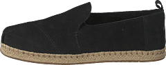 Deconstructed Alpargata Rope Black Suede