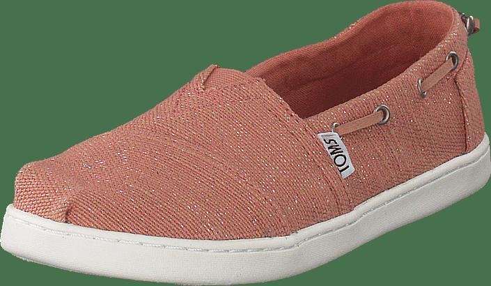 246c195112d Buy Toms Bimini Youth Bloom Metallic Jute pink Shoes Online ...