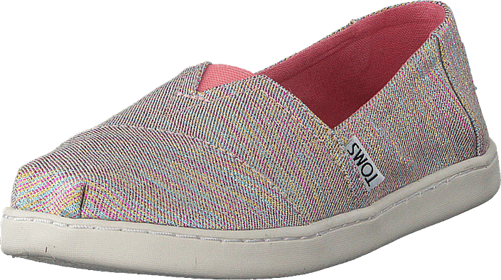 Alpargata Youth Pink Multi Twill Glimmer