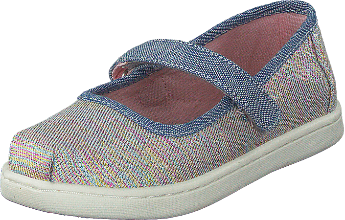 1c944029687 Buy Toms Mary Jane Tiny Pink Multi Twill Glimmer purple Shoes Online ...