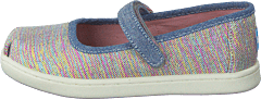 Mary Jane Tiny Pink Multi Twill Glimmer