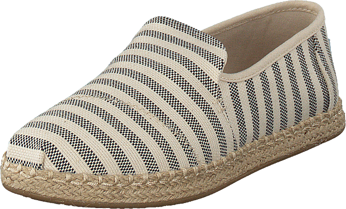 Toms - Deconstructed Alpargata Rope Black Woven Stripe