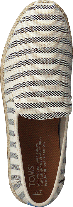 Kjøp Toms Deconstructed Alpargata Rope Black Woven Stripe Sko Online