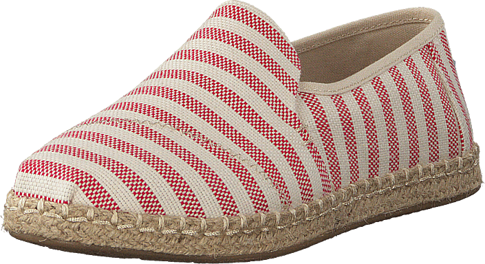 Deconstructed Alpargata Rope Red Woven Stripe