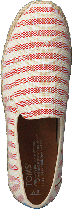 Toms Deconstructed Alpargata Rope Red Woven Stripe 415895479
