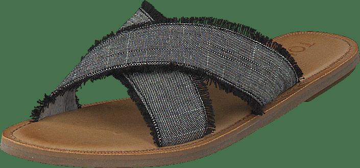 Toms - Viv Black Textured Chambray