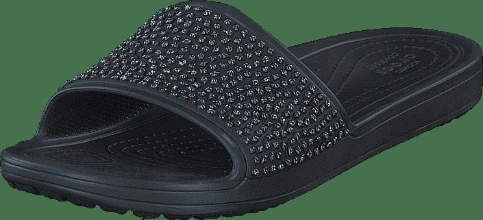 Crocs - Crocs Sloane Embellished Slide Black/black