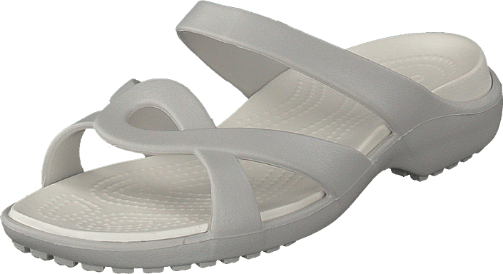 97dca6cf3273 Buy Crocs Meleen Twist Sandal W Pearl White oyster grey Shoes Online ...