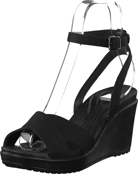 Leigh Ii Ankle Strap Wedge W Black/black