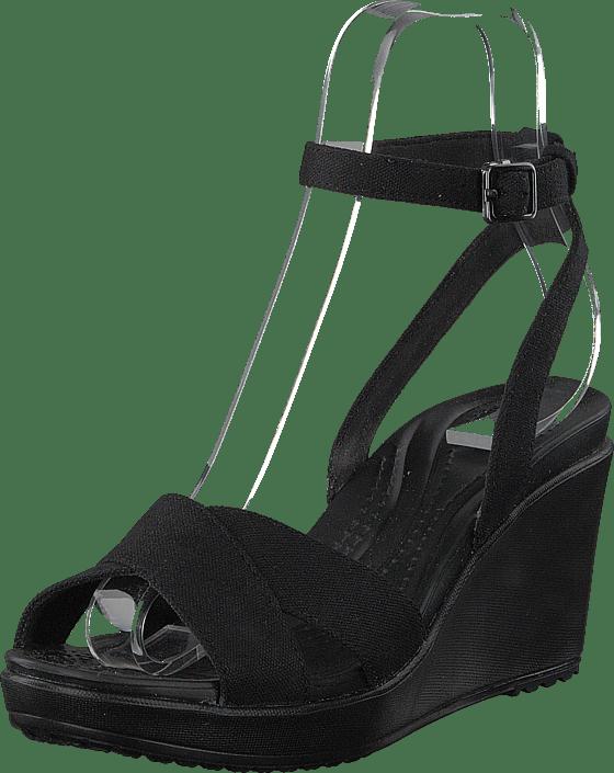 Crocs Leigh Ii Ankle Strap Wedge W svart svart svarta Skor Online