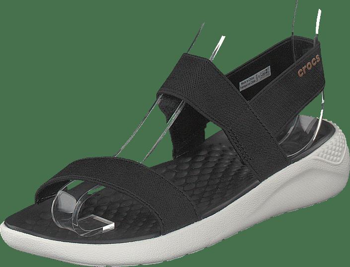 a2da061c9024f9 Buy Crocs Literide Sandal W Black white grey Shoes Online
