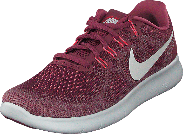 Wmns Nike Free Rn 2017 Winewhite rose pulse red