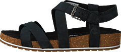 Malibu Waves Ankle Sandal Jet Black Naturebuck
