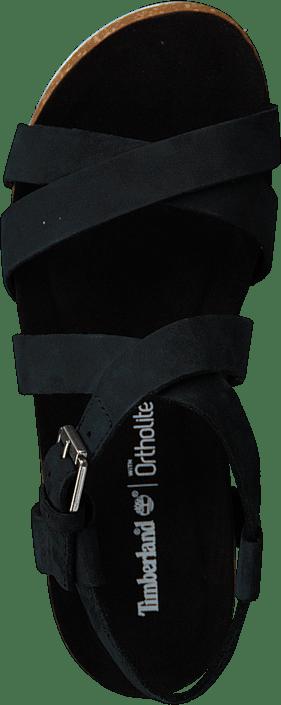 Malibu Waves Ankle Sandal Jet Black Naturebuck