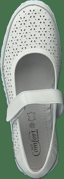 Flats Soft White Sko Hvite Online Lindaw Comfort Kjøp qBZwd066