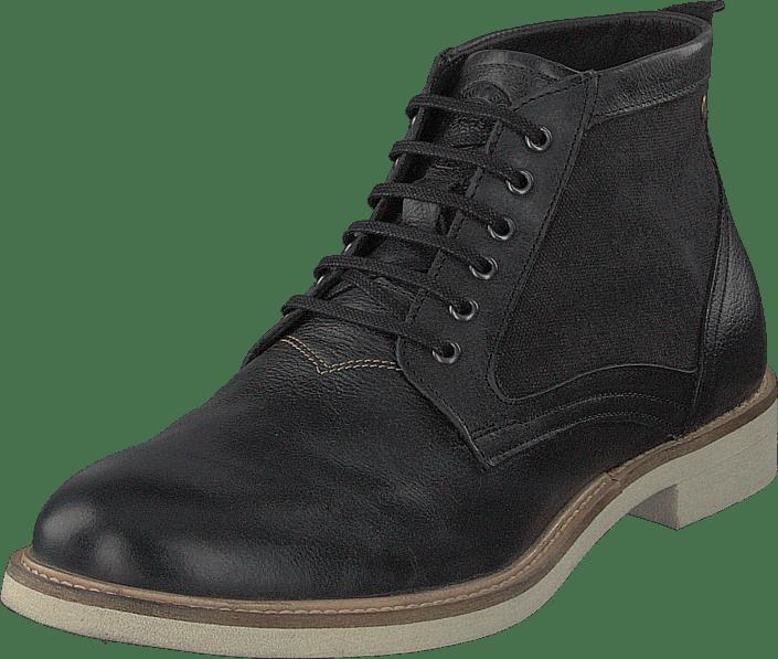 Sneaky Steve - Struck Black Leather & Black Canvas
