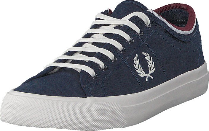 Fred Perry - Kendrick Tipped Cuff Canvas Carbon Blue / Snow White