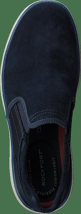 Rockport - Zaden Gore Slip On Navy Lea