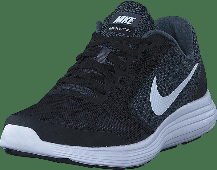 Nike - Nike Revolution 3 Gs Dark Grey/white-black-pure Pla