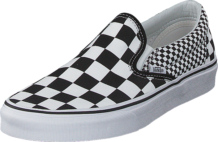 794f227f65f Buy Vans Ua Classic Slip-on Mix Checker Black white grey Shoes ...