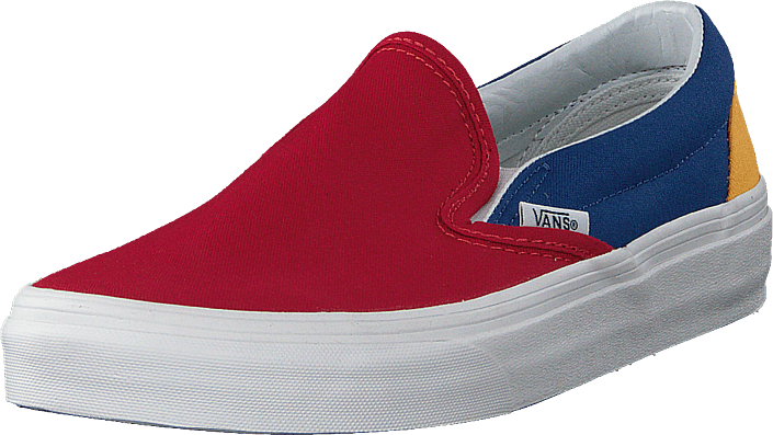 Buy Vans Ua Classic Slip-on Yacht Club Red blue yellow blue Shoes ... 5b2623631