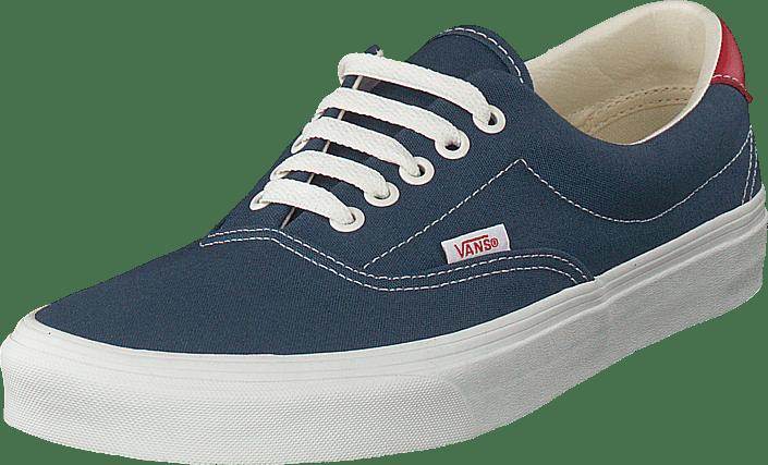 acda47d73b3d01 Buy Vans Ua Era 59 Vintage Indigo rococco Red grey Shoes Online ...
