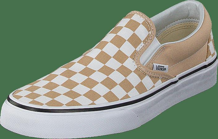 Ua Classic Slip on Checker Frappetrue White