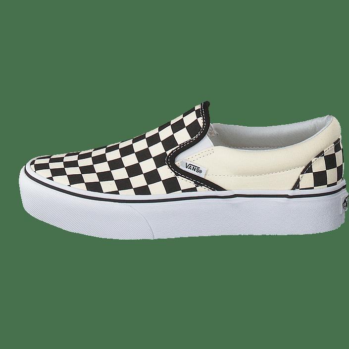 Ua Classic Slip on Platform Black And White Checkerwhite