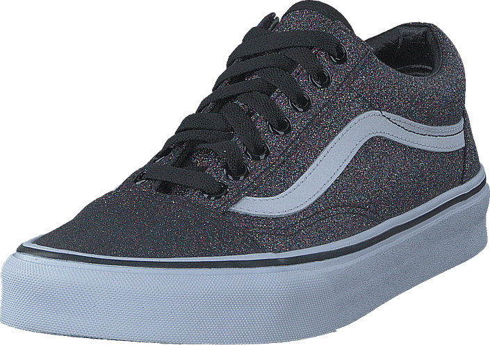 f35d0bbb244 Buy Vans Ua Old Skool Glitter Rainbow Black blue Shoes Online ...