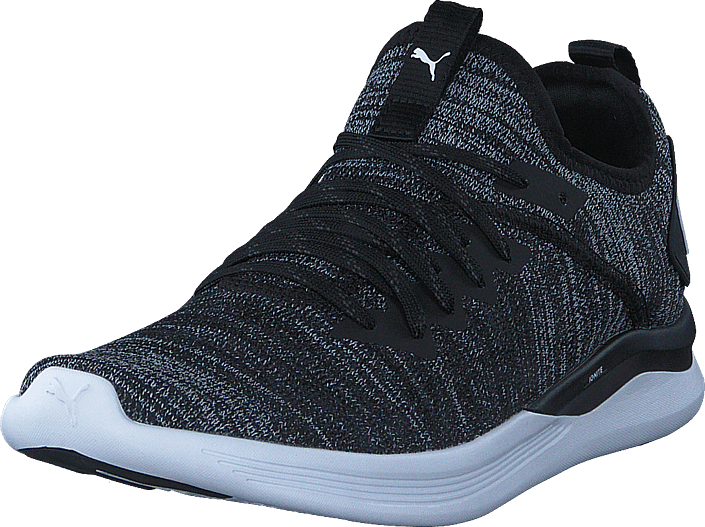 Ignite Flash Evoknit Puma Black-asphalt-puma White