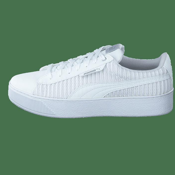 puma white vikky platform