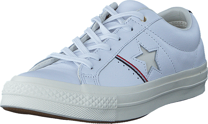 Converse - One Star White/enamel Red/egret