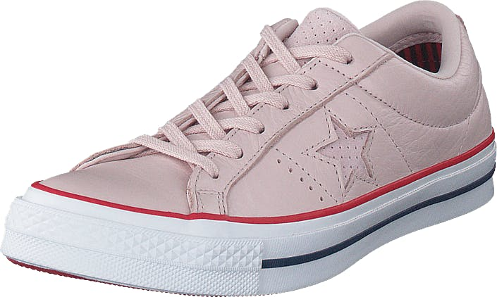 Converse One Star - Ox White/gym Red/white, Skor, Sneakers och Träningsskor, Låga sneakers, Rosa, Vit, Dam, 36